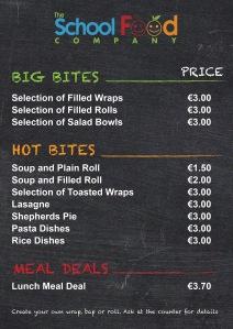 school fodd menu new#c9d8b8